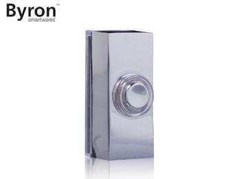 Universal Klingeltaster Chrom Nickel für 1Familienhaus, Klingelknopf