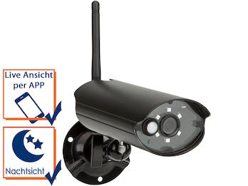 Drahtlose IP-Überwachungskamera für den Innen-und Aussenbereich