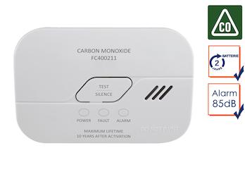 Kohlenmonoxid-Melder mit 2 Jahres Batterie, CO-Melder, 10-Jahres Sensor