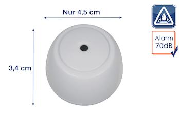 Drahtloser Wassermelder Wasseralarm Wasserwächter, 70dB inkl. Batterie