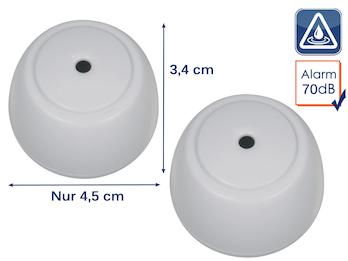 2er Set Drahtloser Wassermelder Wasseralarm Wasserwächter, 70dB inkl. Batterie