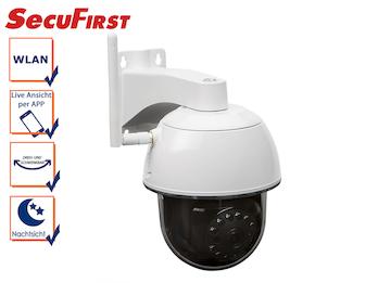 Drahtlos IP Camera / Außenkamera mit Nachtsicht, Blickwinkel 270°, App Steuerung