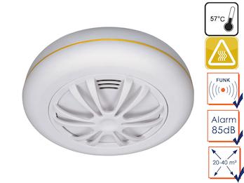 Funkvernetzbarer Hitzemelder, Wärmemelder optimal für Küche, Connects System