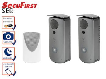 2er Set WI-FI-Türklingeln mit Kamera, Gegensprechanlage App Steuerung