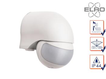 Aufputz Bewegungsmelder weiß 12m/200°, Lux und Zeitintervall einstellbar