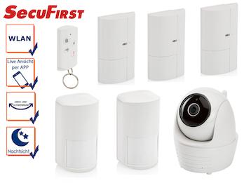 Alarmsystem: IP Innenkamera, Bewegungsmelder, Magnetkontakte u. Fernbedienung