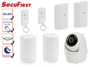 Alarmsystem: IP Kamera, 2x Bewegungsmelder, 2x Magnetkontakt, 2x Fernbedienung