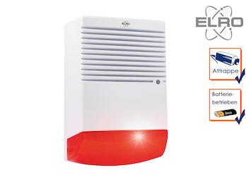 Sirenen Attrappe mit blinkender LED Batteriebetrieb - Alarmsysteme Dummy