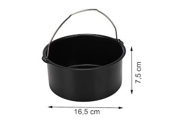 Kuchen Form Ø 16,5 cm, Zubehör für Heißluftfritteuse Digital Aerofryer 182021