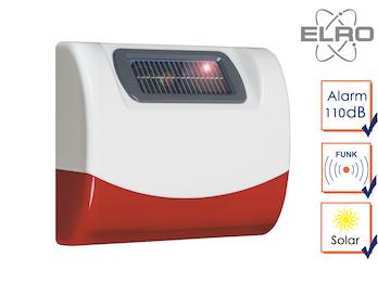Solar außen Sirene für Elro SMART HOME Alarmanlage AG4000 Handy App Alarmgeber