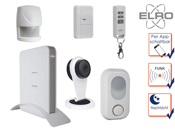 SMART HOME Alarmanlage Einfamilienhaus Überwachungskamera mit Aufzeichnung & App