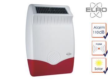 Solar außen Sirene für ELRO Pro Alarmanlage AP5500 - Alarmgeber Hausüberwachung