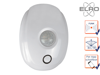 Funk Bewegungsmelder 8m / 90° Smart Home ELRO Connects System App gesteuert