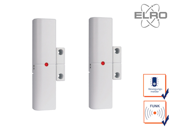 2er Set Smart Home Türkontakt Fenstersensor ELRO Alarmanlage AG4000 Handy App