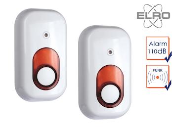 2er Set Innensirene SMART HOME Elro Alarmanlage AG4000 mit Handy App Alarmgeber