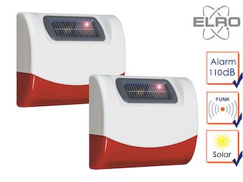 2x SMART HOME Solar außen Sirene Elro Alarmanlage AG4000 Handy App Alarmgeber
