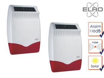 2er Set Solar außen Sirene für ELRO Alarmanlage AP5500 - Alarmgeber Überwachung
