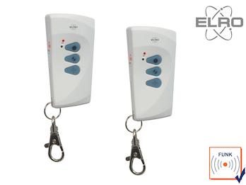 2 Stk. Funkfernbedienung ELRO AP5500 Alarmsystem mit Telefonwählgerät Handsender