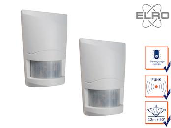2 Stk. Bewegungsmelder 12m/90° ELRO AG4000 Alarmsystem mit Wählgerät Überwachung