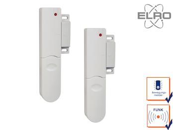 2er Set Türkontakt Fenstersensor ELRO Alarmanlage AP5500 Funksensor Alarmtechnik