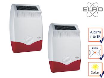 2er Set SMART HOME Solar außen Sirene für Elro Alarmanlage AS8000 App Alarmgeber
