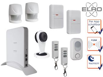SMART HOME Funk Alarmanlage Überwachungskamera mit Aufzeichnung über Handy App