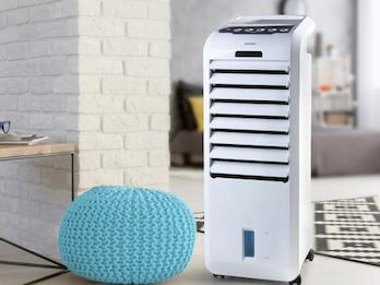 Verdunstungskühler mit Wasserkühlung  Fernbedienung  Timer  - Wassertank 5 Liter