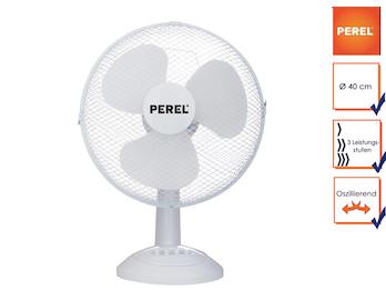 Tischventilator Ventilator Tischlüfter Ø 40cm 3 Stufen oszillierend 50W