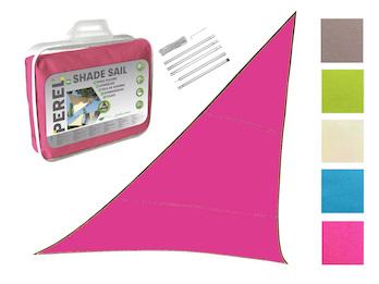 Sonnensegel Dreieck Pink 5m mit Stangenset für den Garten