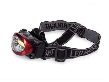 Stirnlampe Kopflampe mit heller 3W COB LED für Wandern, Trekking, Outdoor