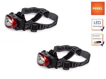 Stirnlampen Tandemset Kopflampe mit heller 3W LED für Wandern, Trekking, Outdoor