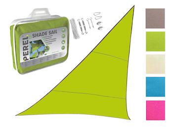 Sonnensegel Dreieck Grün 5m mit Ösenset für Balkon / Terrasse