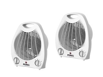 Elektrische Heizlüfter mit 2 Heizstufen als 2er Set, mit Ventilator & Thermostat