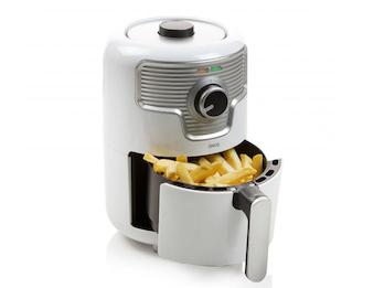 Low-Fett Mini Heißluftfritteuse Deli Fryer mit Timer, frittieren ohne Öl, 1,6L
