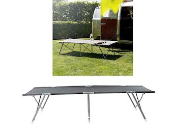 Klappbare Feldbetten 2er Set ein praktisches Gästebett mit Transporttasche, Grau
