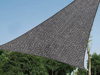 Sonnensegel Dreieck Dunkelgrau 5m für Garten / Balkon / Terrassensegel