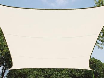 Sonnensegel Rechteckig 2x3m Creme Sonnenschutzsegel für Balkon / Terrassensegel
