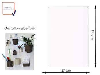 Magnettafel Metall in Weiß, 74 x 57 cm- für Magnetische Töpfe als Wandgestaltung