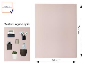 Magnettafel Metall Beige, 74 x 57 cm- für Magnetische Töpfe als Wandgestaltung
