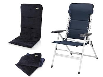 Campingstuhl / Liegestuhl + Sitzbezug, in 7 Positionen verstellbar, Blau
