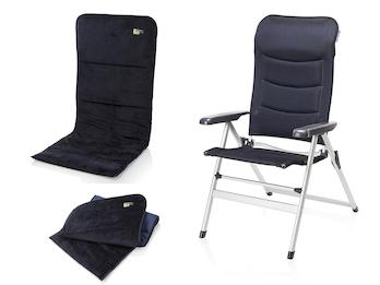 Campingstuhl / Liegestuhl + Sitzbezug, in 7 Positionen verstellbar, Navi Blau