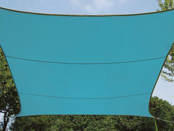 Sonnensegel Rechteckig 4mx3m Blau - Sonnenschutz für Terrasse, Terrassensegel