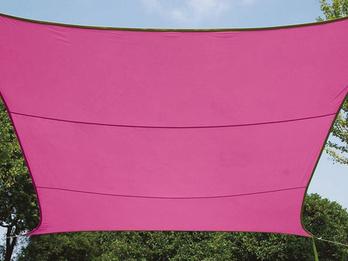 Sonnensegel Rechteckig 4mx3m Pink - Sonnenschutz für Terrasse, Terrassensegel