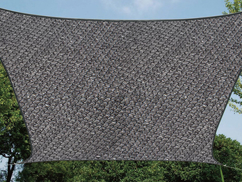 Sonnensegel Viereck Dunkelgrau 25 m², Sonnenschutz für Terrasse, Terrassensegel