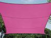 Sonnensegel Rechteckig 2x3m Pink mit Stangenset - Sonnenschutz für den Garten