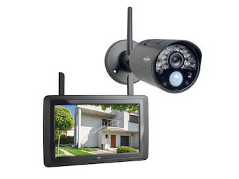 IP Überwachungskamera Outdoor mit Innenmonitor, Steuerung per App