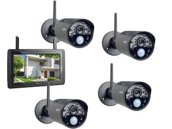 IP Überwachungskameraset Outdoor mit Innenmonitor, Steuerung per App