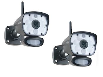 IP Outdoorkameraset mit Bewegungsmelder, Nachtsicht bis 12m, Steuerung per App