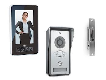Kabellose Video Türsprechanlage mit tragbarem 11cm Innenbildschirm & Türöffner