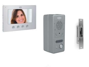 Video Türsprechanlage mit Lochkamera, Innenmonitor & elektrischem Türöffner